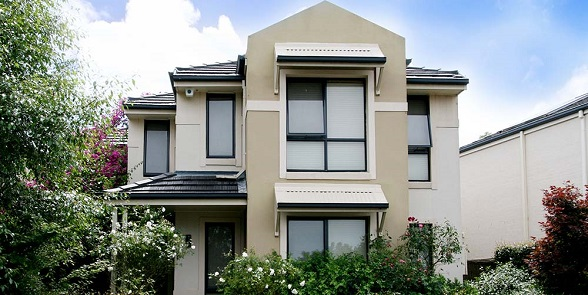 residential home with aluminium awning windows